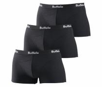 Baumwoll-Hipster (3 Stck.) schwarz / weiß