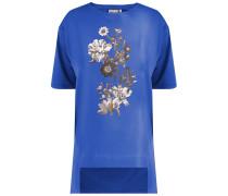 T-Shirt saphir / gold / schwarz / weiß