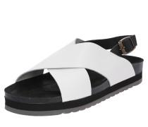 Sandale 'Rita schwarz / weiß