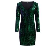 Kleid blau / dunkelgrün / schwarz
