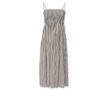 Kleid dunkelbraun / weiß
