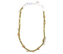 Halskette mit Muschel-Desgin braun / silber