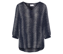 Bluse 'Kitti' nachtblau / weiß