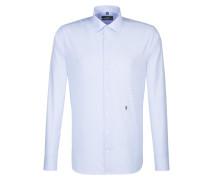 City-Hemd 'Tailored' hellblau / weiß