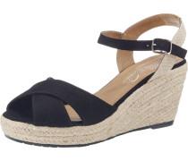 Sandaletten beige / schwarz
