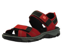 Sandalen rot / schwarz