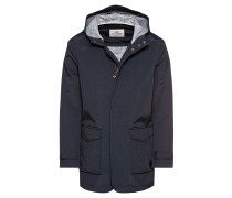 Jacke 'Hooded Mac' navy