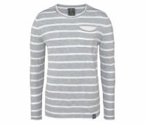 Pullover 'mst St.tr' grau / wollweiß