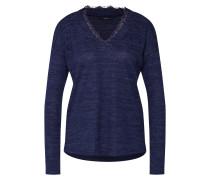 Shirt 'vmhenny LS V-Neck Top' nachtblau