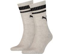 2 Paar Socken schwarz / grau