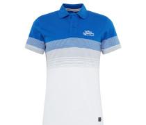 Shirt blau / weiß / grau