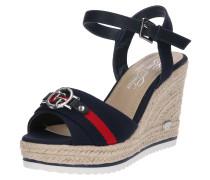 Sandale beige / navy / rot