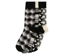 Socken 'Black And White Gift Box' mischfarben