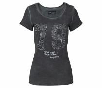 T-Shirt schwarzmeliert