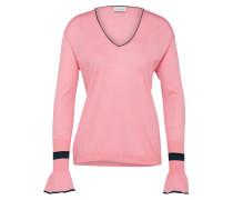Pullover 'p107' pink / schwarz
