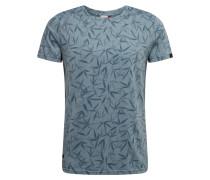 Shirt 'wanno' blau / grau