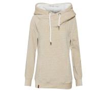Sweatshirt beige / weiß