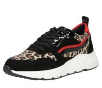 Sneaker '5614' beige / rot / schwarz