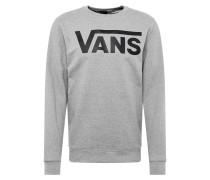 Sweatshirt hellgrau / schwarz