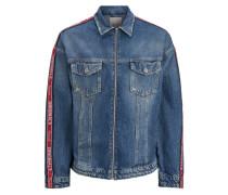 Jeansjacke blue denim / rot