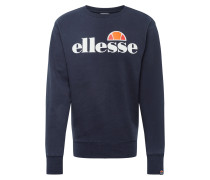Sweatshirt 'Succiso' orange / weiß / navy