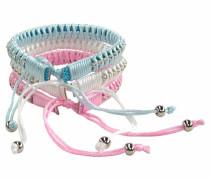 Armband Set hellblau / rosa / weiß