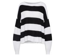 Oversize Pullover schwarz / weiß