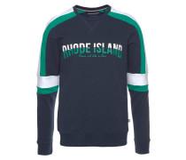 Sweatshirt marine / jade / weiß