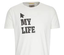 T-Shirt beige / schwarz / weiß
