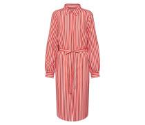 Kleid beige / rot