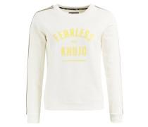 Sweatshirt 'feija' gelb / weiß