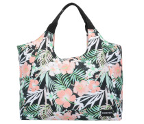 Beachbag hellgrün / rosa / schwarz
