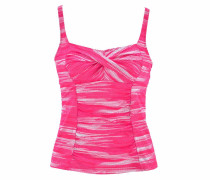 Bügel-Tankini-Top 'Physical' pink / weiß