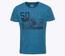 T-Shirt himmelblau / schwarz