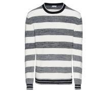 Pullover 'F blockstrip cn' grau / offwhite