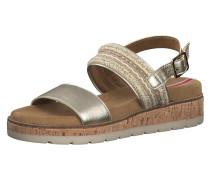 Sandale gold / silber
