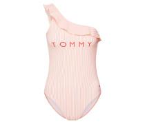 Badeanzug rosa / weiß