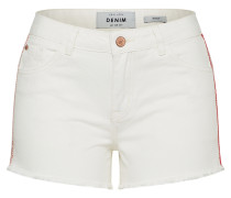 Regular Shorts rot / weiß
