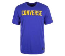T-Shirt 'Essentials' dunkelblau / gelb