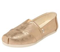 Slipper 'alpargata' gold