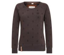 Sweatshirt nachtblau / dunkelbraun