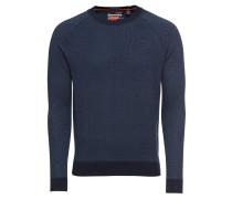Pullover 'orange Label Cotton Crew' navy