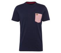T-Shirt 'Stripe Pocket' navy