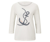 Shirt 'Maritimes' creme / graumeliert