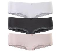 Spitzenhipster rosa / schwarz / weiß