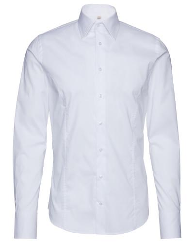 Unifarbenes Hemd 'Walter' weiß