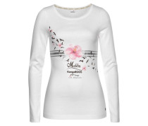 Longsleeve mit Print rosa / weiß
