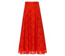 Rock Lace Midi Skirt Orangerot orangerot