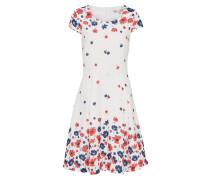 Kleid 'floral' blau / rot / weiß