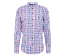 Hemd 'sleeve casual fit' blau / rosa